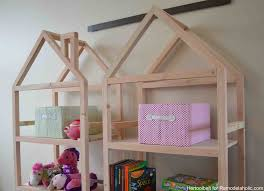 Free Woodworking Plans Simple Bookcase by Remodelaholic Diy House Frame Bookshelf Plans
