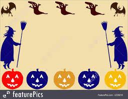 halloween frame halloween halloween border stock illustration i2229216 at