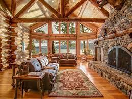sensational luxury log home private 254 u0027 vrbo