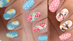 3 easy and simple floral nail designs no tools only a toothpick