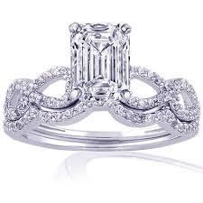 emerald cut wedding set emerald wedding rings wedding plan ideas
