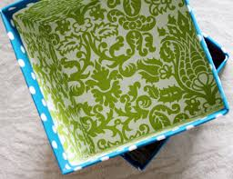 Decorate Cardboard Box Iheart Organizing Project Pretty Diy Fabric Boxes U0026 A Link Party