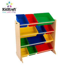 kidkraft primary color 12 bin organizer at growing tree toys
