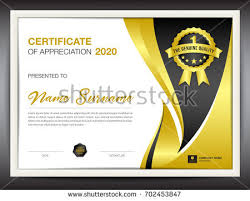 certificate template vector illustration diploma layout stock