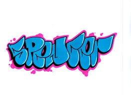 do a simple bubble letter throwie of your name by riz503