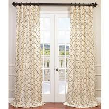Embroidered Curtain Panels Half Price Drapes Tunisia Geometric Embroidered Faux Silk Rod