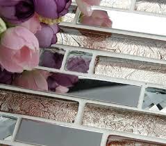 Kitchen Backsplash Tiles Glass Interlocking Stainless Steel Tiles Glass Mosaic Kitchen Backsplash