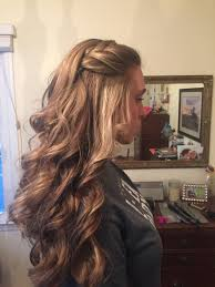 pageant style curling long hair loose curls with a braid by me hair design pinterest loose