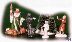 dickens a carol visit 4 figurine set by department 56