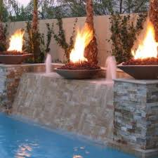Fire Pit With Water Feature - fireplace many kinds firepits for patio design decorating ideas