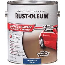 Garage Floor Snow Containment by Rust Oleum Concrete U0026 Garage Floor Paint U0026 Primer 319550 Do It