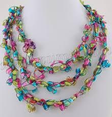 crochet necklace pattern images Free crochet pattern ladder ribbon necklace pattern 6 jpg