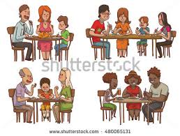 vector image set family dinners stock vector 402531082