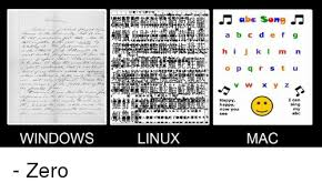 Windows Vs Mac Meme - windows linux abe song a b c d e f g j k i o p q r s t u v w i can
