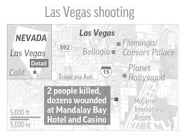 Hotels In Las Vegas Map by Updated Shooting On Las Vegas Strip Kills 50 Plus Wounds More