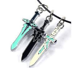 anime necklace images Sword art online mini swords anime necklace otakupicks jpg