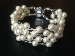 multi pearl bracelet images Swarovski pearl bracelet multi strand cuff bridal wedding jewelry jpg