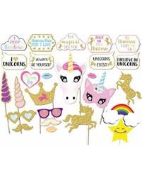 photo booth supplies spectacular deal on glitter gold rainbow unicorn photo booth props