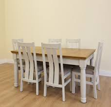 Solid Oak Furniture New England Painted Extending Solid Oak Tables With Turned Legs In