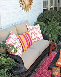 Ideas For Outdoor Loveseat Cushions Design Patio Decor Ideas Colorful Poolside Seating By Cassie