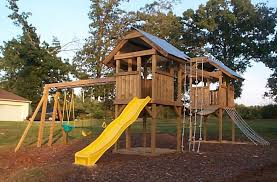 diy backyard playground ideas with wood playground and outdoor