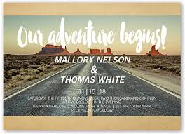 wedding invitations shutterfly our adventure 5x7 customized invitations shutterfly