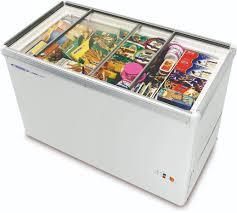 voltas glass door refrigerator deep freezer glass top freezer