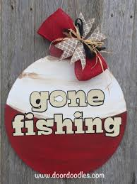 fishing front door hanger decoration hanging hang wreath