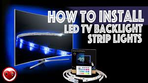 nexlux led light strip installation how to install led tv backlight strip lights review unboxing