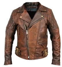 brown motorcycle jacket mens classic diamond motorcycle biker brown distressed vintage