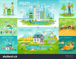 eco living infographic eco city recycling stock vector 604888343