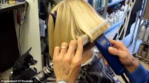 cut your own hair with clippers women hair dressers are slicing off women s hair using men s clippers
