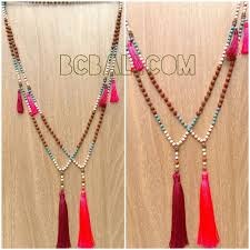 handmade fashion necklace images Fashion necklaces tassels mala bead handmade designs fashion jpg