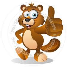 cartoon beaver with thumbs up gesture by cartoongalleria toon