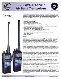 download free pdf for icom ic a6 2 way radio manual