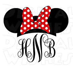minnie mouse monogram minnie mouse ears and bow clipart clipartxtras
