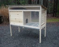 How To Build A Rabbit Hutch Out Of Pallets Rabbit Hutch Etsy
