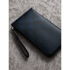 mens travel wallet images London check travel wallet in navy black men burberry united jpg