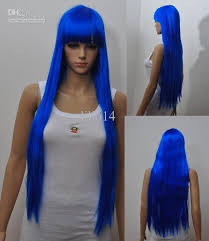 wigs for halloween photo album wigs 70cm long blue wigs party