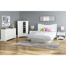Queen Size Platform Bed South Shore Step One Queen Size Platform Bed In Pure White 3050233