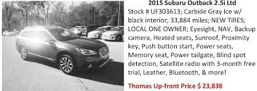 2017 subaru outback 2 5i limited black cumberland times news newspaper ads classifieds automotive
