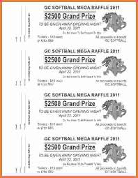 6 free printable raffle tickets template sales report template