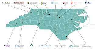 Unc Map Unc Teacher Education Programs U2013 Teachnow North Carolina