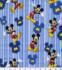 Bed Sheets For Summer Men U0027s Journal Disney Mickey Mouse Character Cotton Fabric 43