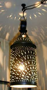 punched tin lighting fixtures punched tin lighting punched tin l shades from simplicity to