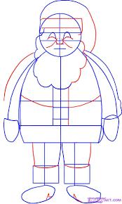 draw santa clause santa santa claus saint nick step by step