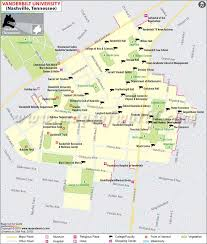 nashville on map map of vanderbilt in nashville tennessee usa