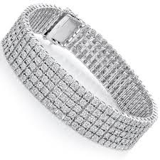 sterling silver bracelet with diamond images Sterling silver bracelets 5 row diamond bracelet 0 81ct jpg
