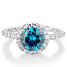 birthstone ring silvertone march imitation birthstone ring light blue cz