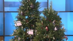 ed on air santa s best 7 5 pinecone tree by degeneres
